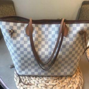 Authentic Louis Vuitton Neverfull MM Demier Azur